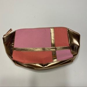 Covergirl Pink Gold Cosmetic Makeup Bag Pouch